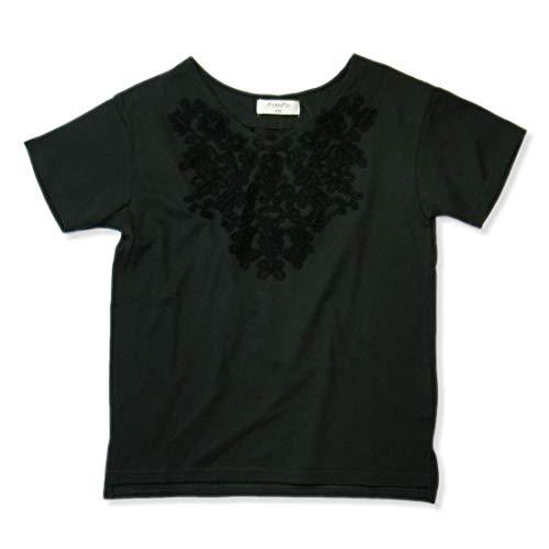 358dabe75501a  ナーナッド  1420296 コード刺繍 花柄 Tシャツ カットソー トップス 女の子 ガールズ キッズ 子供