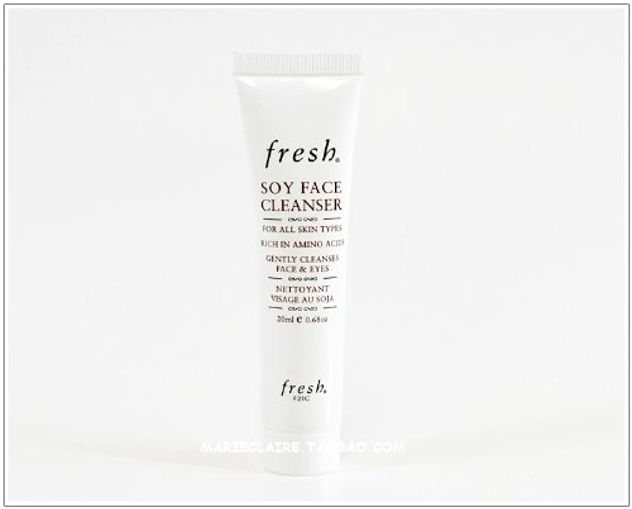 スマッシュピーブ飾り羽Fresh SOY FACE CLEANSER (フレッシュ ソイ フェイス クレンザー) 0.6 oz (20ml) トラベルサイズ by Fresh for Women
