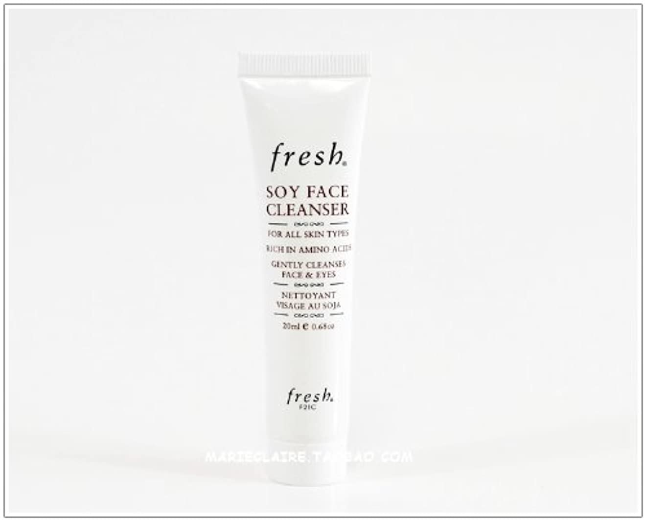 のスコアボルトパワーセルFresh SOY FACE CLEANSER (フレッシュ ソイ フェイス クレンザー) 0.6 oz (20ml) トラベルサイズ by Fresh for Women