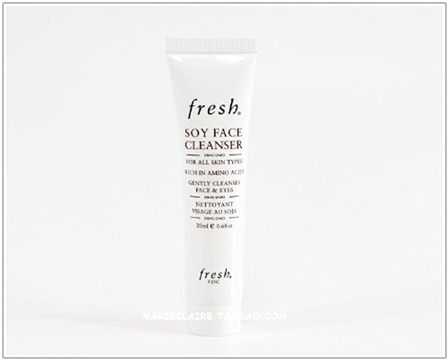 致命的な内陸保護Fresh SOY FACE CLEANSER (フレッシュ ソイ フェイス クレンザー) 0.6 oz (20ml) トラベルサイズ by Fresh for Women