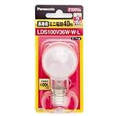 パナソニック 長寿命ミニ電球 100V 40W形 ホワイト E17口金 LDS100V36WWL