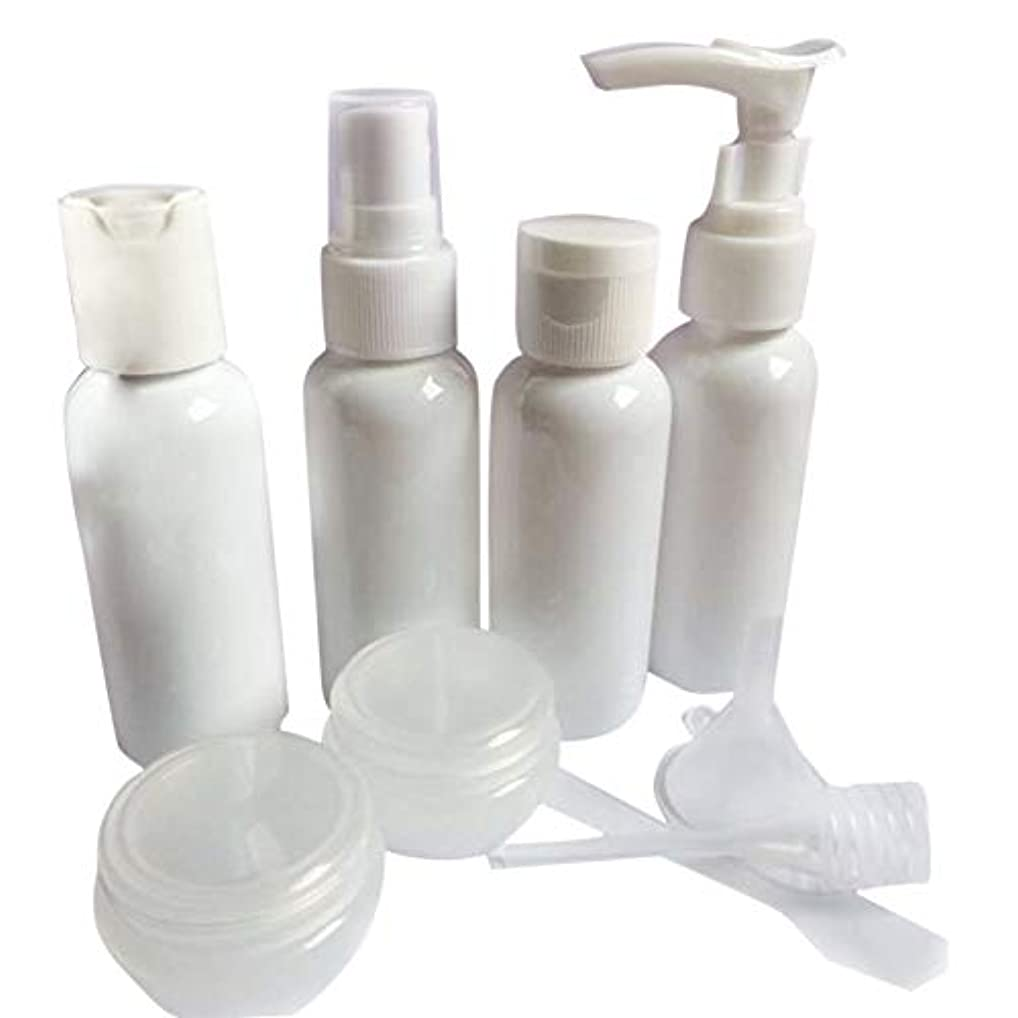 ラッドヤードキップリング有害フィットネスPichidr-JP 9本/セットトラベルボトルセットミニトラベルプラスチックパッキングトラベルボトルシャンプーコンディショナーローション洗面用化粧品(ホワイト)
