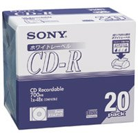 CD-R [700MB] 20CDQ80DPWA 6P 120枚