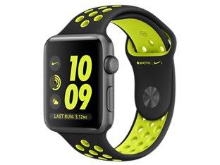 Apple Watch Nike+ 42mm MP0L2J/A [ブラック/ボルトNikeスポーツバンド]