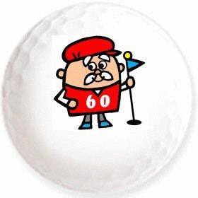 ★【還暦ゴルフ2】のイラストを印刷してお届け!無地専用ゴルフ...