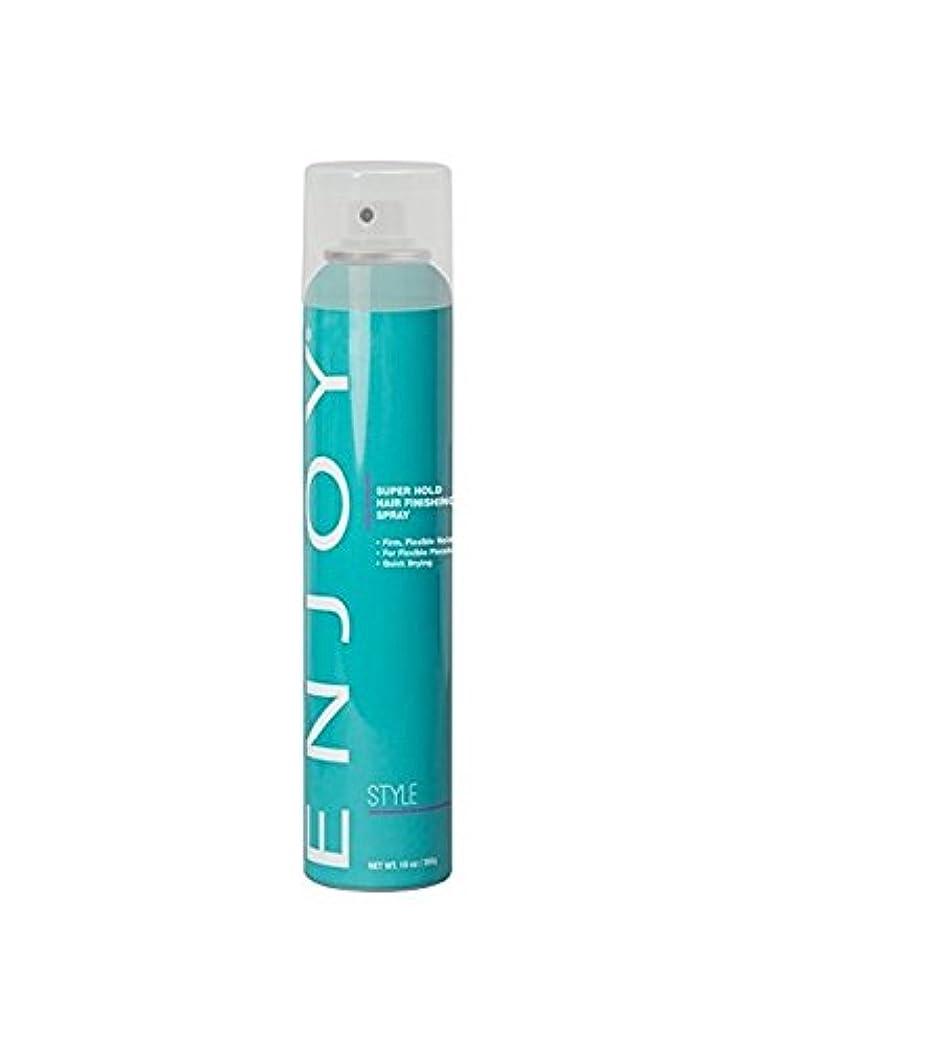 特異性量反毒Enjoy スーパーは、髪の仕上げスプレーをホールド 10オンス スーパー10オズスプレー髪をホールド