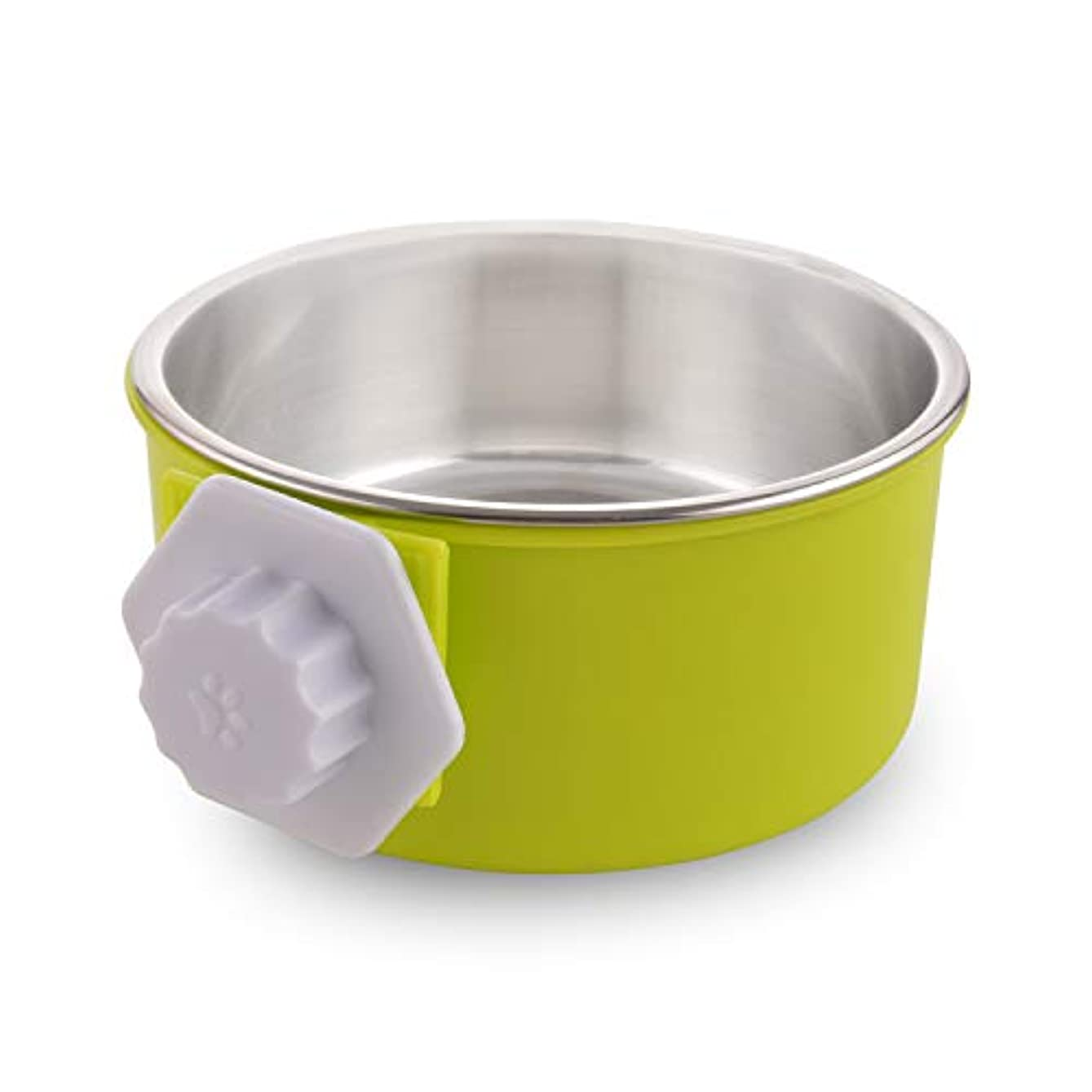 MOACC箱犬のボウル、犬のためのプラスチック子犬の送り装置の食糧水ボールが付いている取り外し可能なステンレス鋼の犬ボール