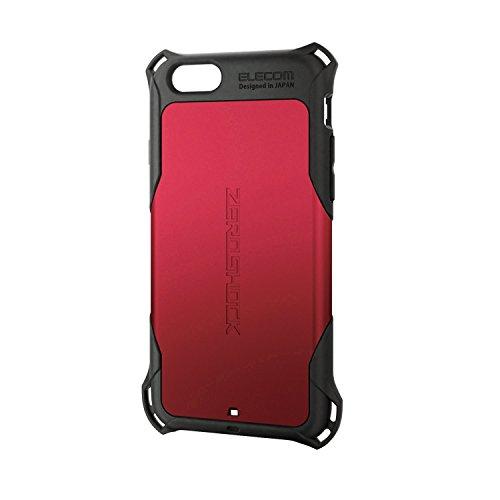 ELECOM iPhone6S iPhone6 ZEROSHOCK ケース レッド PM-A15ZERORD