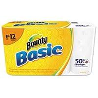 基本的な紙タオル、59/ 10x 11、1-ply、66/ロール、カートンあたり8ロール/パック、1カートンとして販売、8ロール