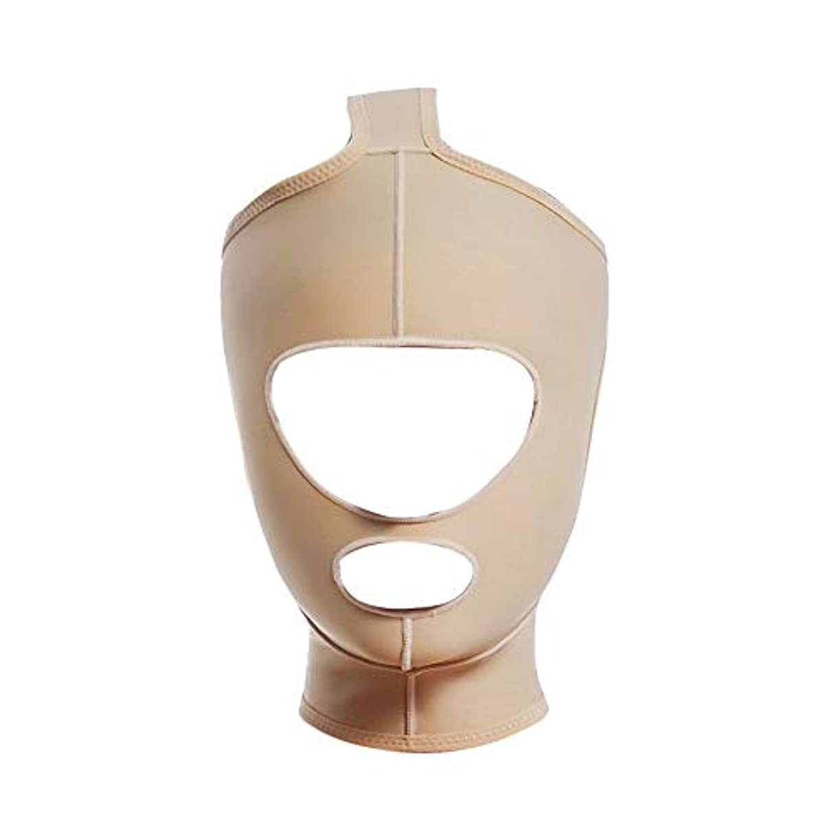 ネブボス良さGLJJQMY 顔と首のリフト痩身マスクの顔の彫刻の顔の弾性スーツ薄い二重あごのアーティファクトV顔のビーム表面 顔用整形マスク (Size : M)