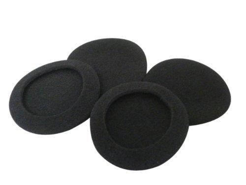 Sound Wave【Amazon即日出荷】ヘッドホン交換用イヤーパッド直径55mm 黒 左右2セット アルミ チャック包装...