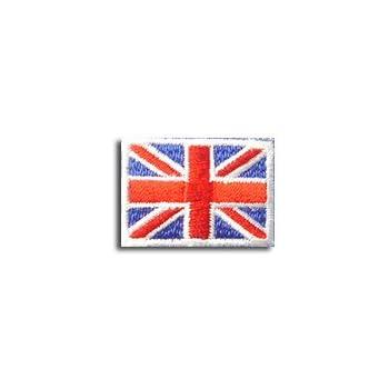 イギリス 国旗 アイロン ワッペン (ミニ 約33x24mm)