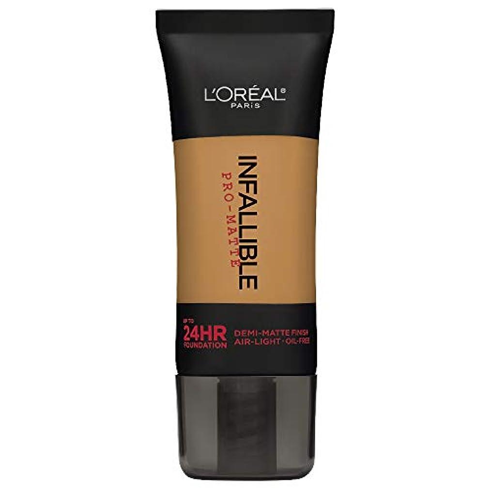 ブリリアント穿孔するストレッチL'Oreal Paris Infallible Pro-Matte Foundation Makeup, 109 Classic Tan, 1 fl. oz[並行輸入品]