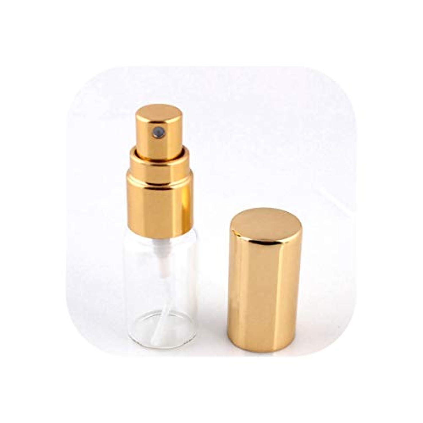 血統里親ディスカウント旅行のためのアトマイザー空の化粧品容器とスプレーでの1pcsの5ミリリットル/ 10MLポータブルカラフルなガラスの詰め替え香水瓶、GD-S