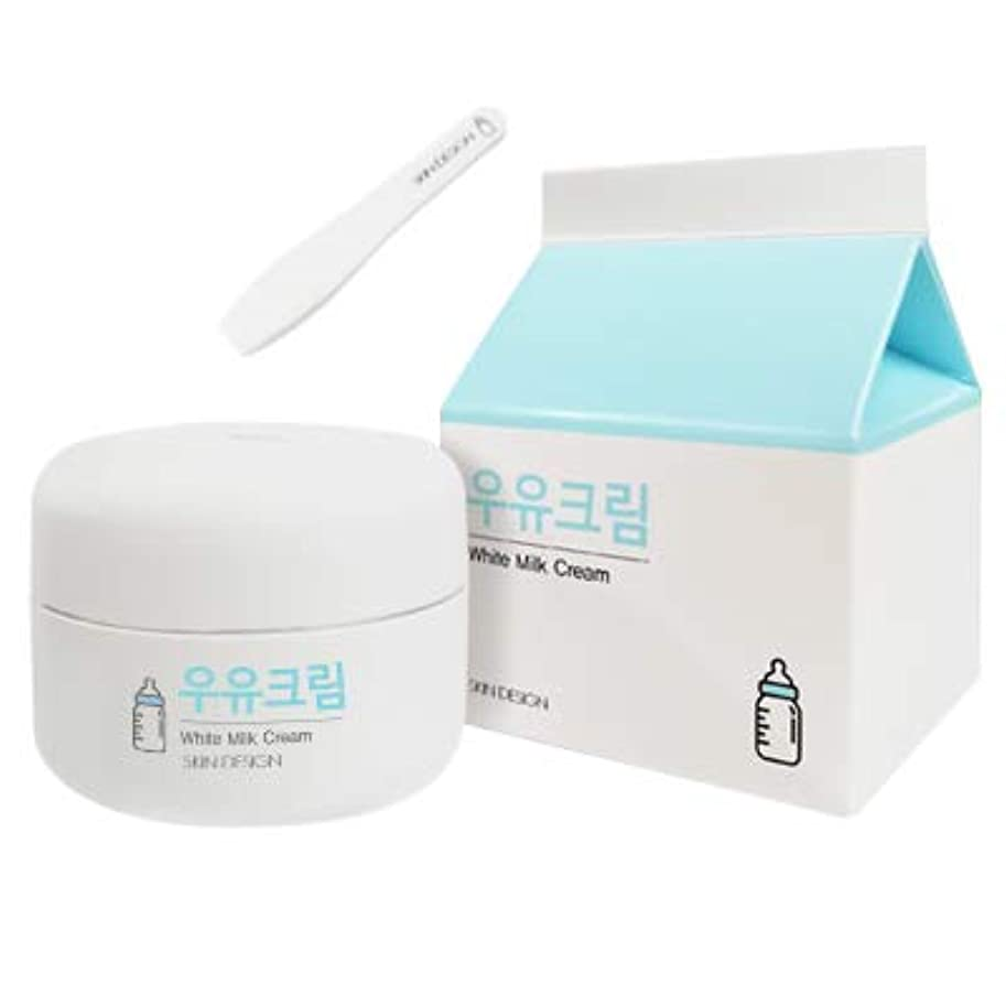 ハンディキャップ意気込み海藻【SKIN DESIGN】スキンデザイン ホワイトミルククリーム White Milk Facial Cream ウユクリーム (50ml)