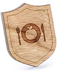 Vegetarian Foodラペルピン、木製ピンとタイタック|素朴な、ミニマルGroomsmenギフト、ウェディングアクセサリー