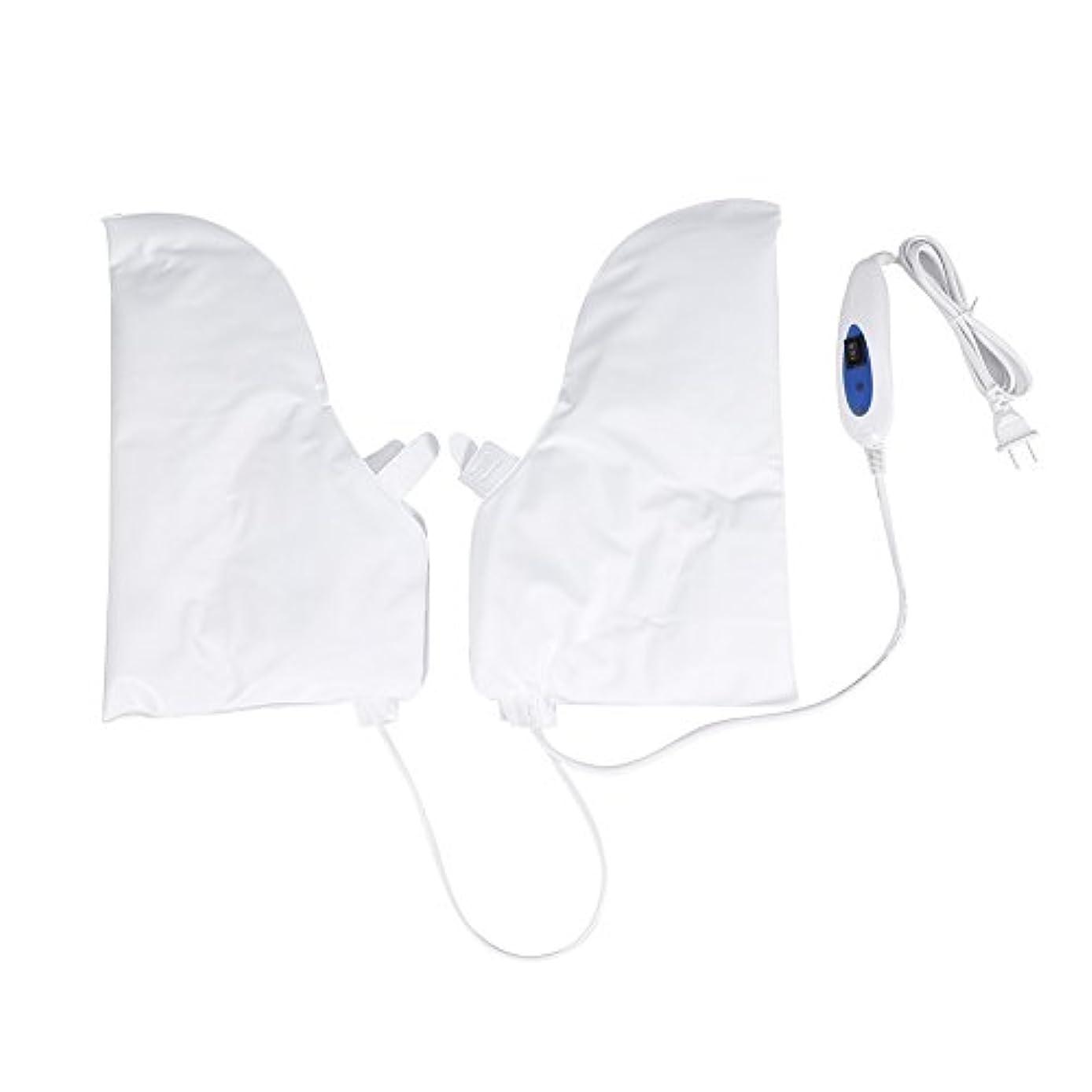 領事館薄暗い休眠蒸し手袋 ハンドマスク 保湿グローブ 電熱手袋 ヒートグローブ 加熱式 電熱 手ケア ハンドケア 2つ加熱モード 乾燥対策 手荒れ対策 補水 保湿 美白 しっとり 美容 手袋