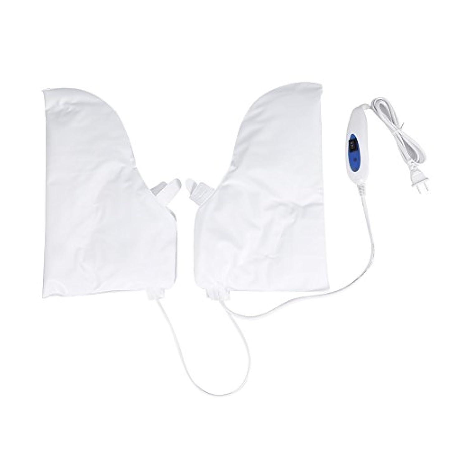 余剰蜂君主制蒸し手袋 ハンドマスク 保湿グローブ 電熱手袋 ヒートグローブ 加熱式 電熱 手ケア ハンドケア 2つ加熱モード 乾燥対策 手荒れ対策 補水 保湿 美白 しっとり 美容 手袋