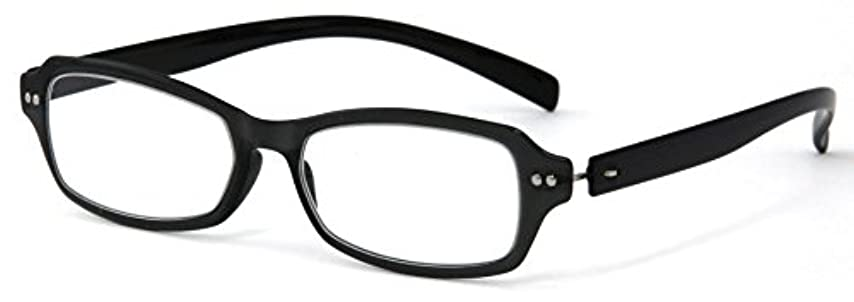 アセ凍結印象的なデューク 老眼鏡 +2.5 度数 ネオクラシック 超軽量フレーム ソフトケース付き ブラック GLR01-1+2.50