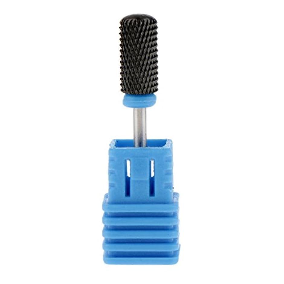 ファウル予防接種する歯科のToygogo 3/32インインシャンクセラミックネイルドリルビットプロ粗ミディアムグリットマニキュアドリルビット電気ネイルファイルロータリーバリツールスムーズトップ - ブラック