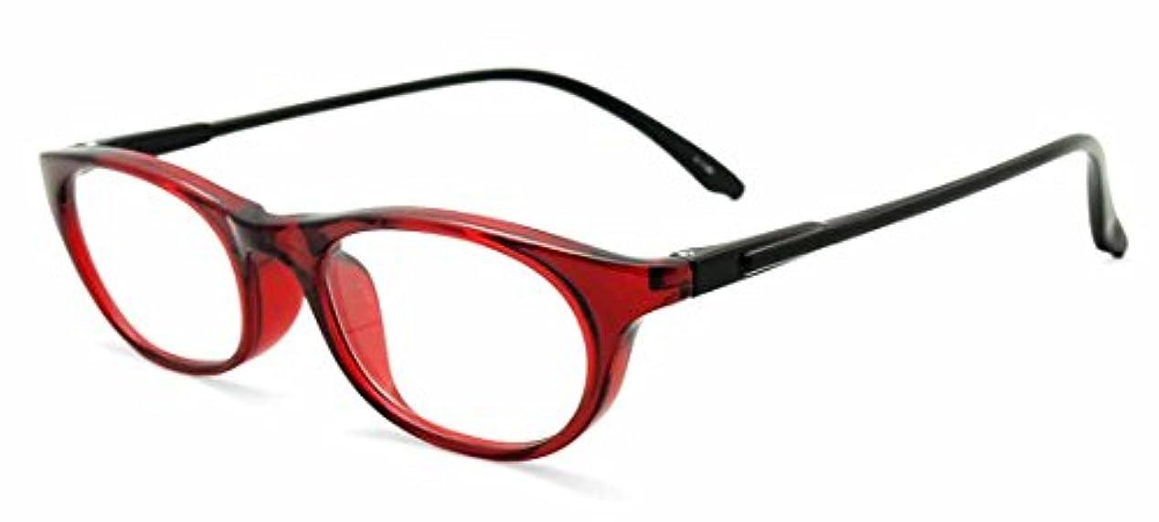 純日本製 やわらかシニアグラス(老眼鏡)SABAEシリーズ【レッド&ブラック】鯖江製メガネ?JAPAN 度数:+0.75~+3.50<ケース付>OR15