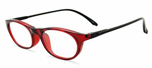 やわらかシニアグラス 老眼鏡 SABAEシリーズ鯖江製メガネ・JAPAN 度数:+3.50<ケース付>