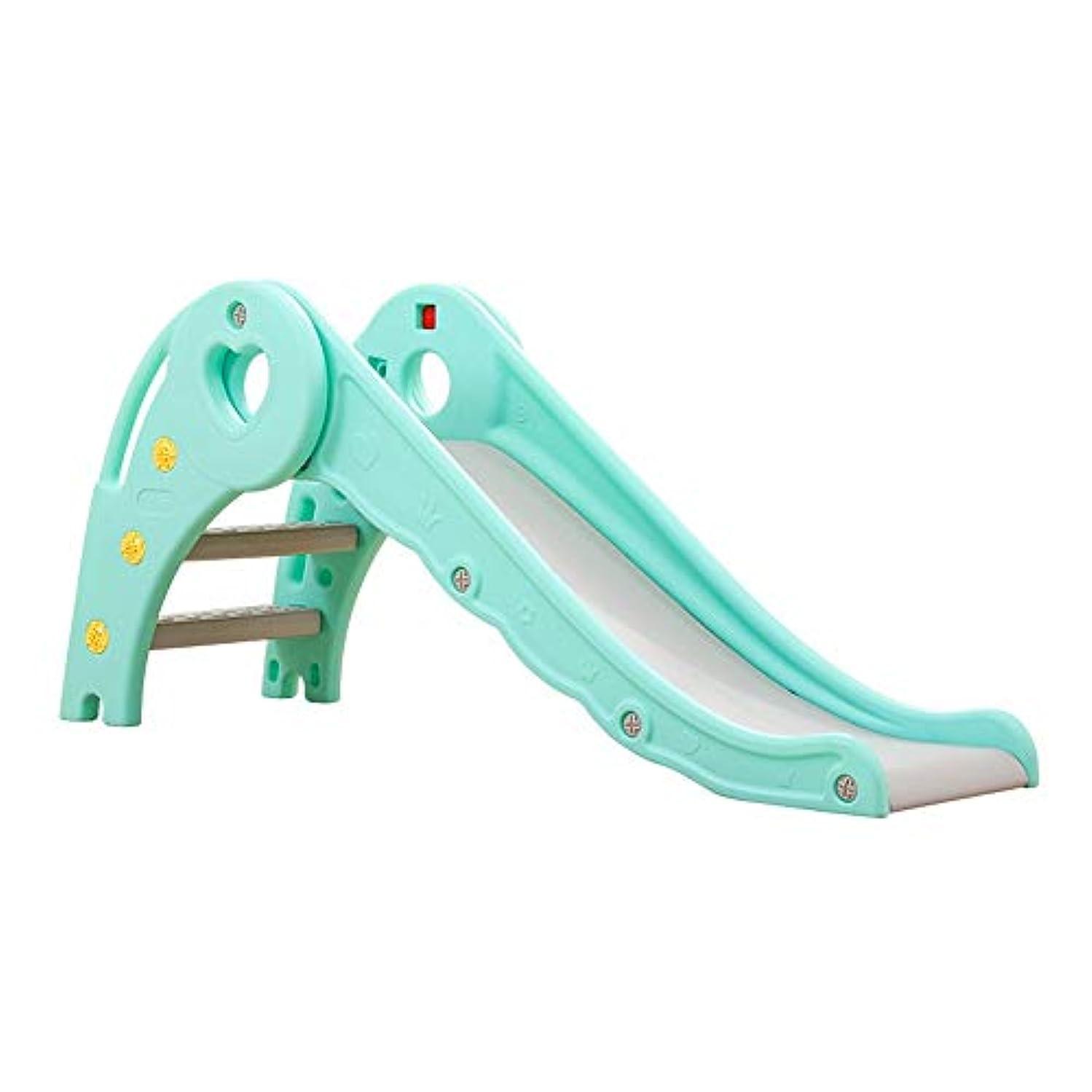 宿考えたテープ滑り台 屋内幼児は、男の子と女の子のためにセットアップするために折り畳み式のファミリースライド遊び場簡単に、理想的なギフトを再生する、推奨年齢1-10 ジュニアアクティビティジム (色 : 緑, サイズ : 127x33x57cm)