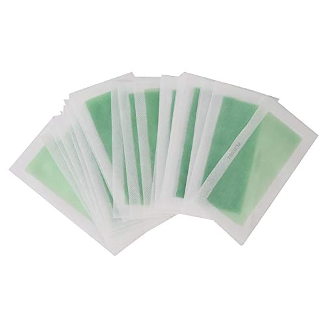 付録ほんの華氏毛を除去する紙、男性と女性のための毛を取除くために速くそして便利な48Pcs使い捨て可能な二重表面非編まれたワックスボディ脱毛紙