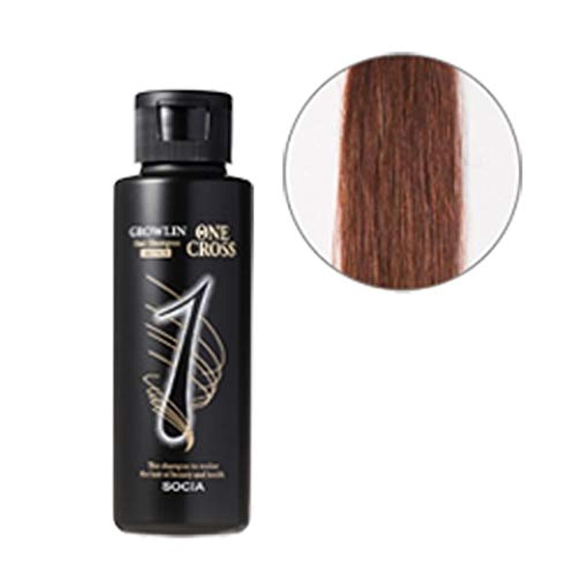 ソシア (SOCIA) グローリン?ワンクロス (ブラウン) 自然に染まる 白髪染めシャンプー (100ml 約1ヶ月分) 無添加 アミノ酸系 カラーリングシャンプー