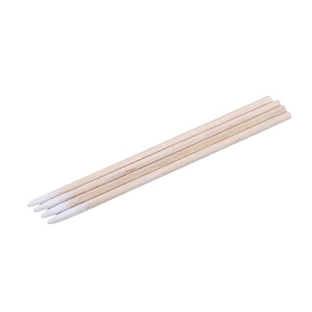 流体テロリスト偽物LJSLYJ 300ピース木製ハンドル小さな先のとがったつま先ヘッド綿棒アイブロウ綿棒美容メイクカラーネイルステッチ綿棒ピッキング