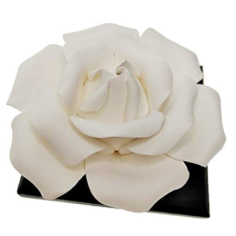 セラミックローズフラワーアロマセラピー香りエッセンシャルオイルディフューザー車の装飾夏の時間精神瞑想飾り