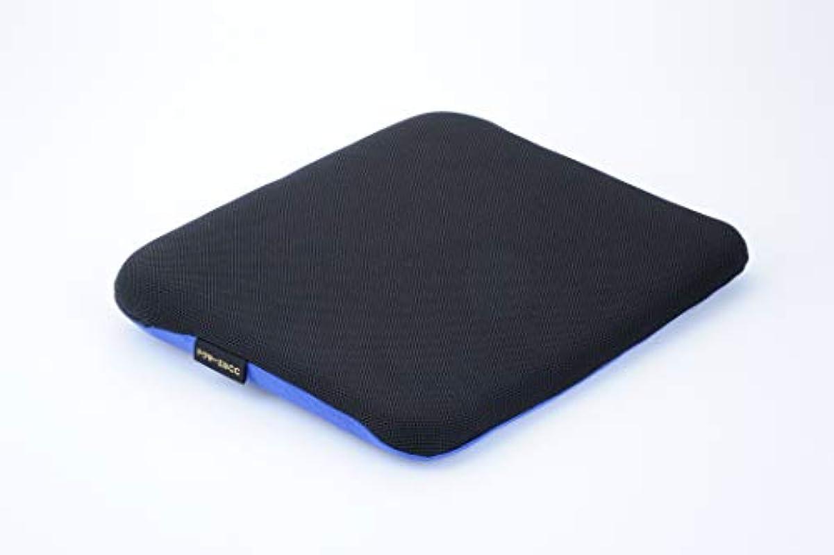 下るパット封筒ドクターエル ドクターエルCC 黒×青 車専用腰痛対策クッション
