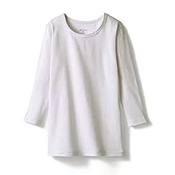 [ベルメゾン] あったか インナー 綿混 クルーネック 九分袖 キッズ オフホワイト サイズ:100