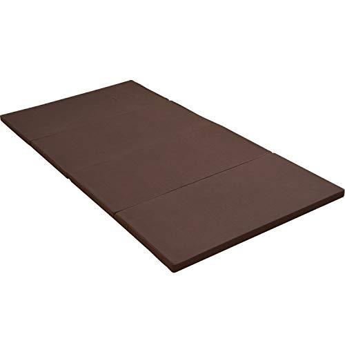 アキレス(Achilles) マットレス かため 厚み4cm 4つ折 抗菌 防臭 付き シングル ブラウン MK4-S(BR)