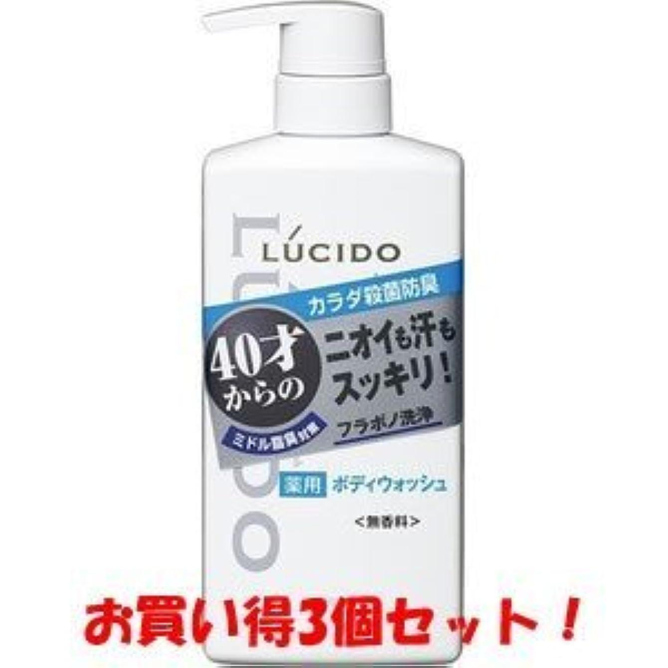 見かけ上連続的本質的ではない【LUCIDO】ルシード 薬用デオドラントボディウォッシュ 450ml(医薬部外品)(お買い得3個セット)