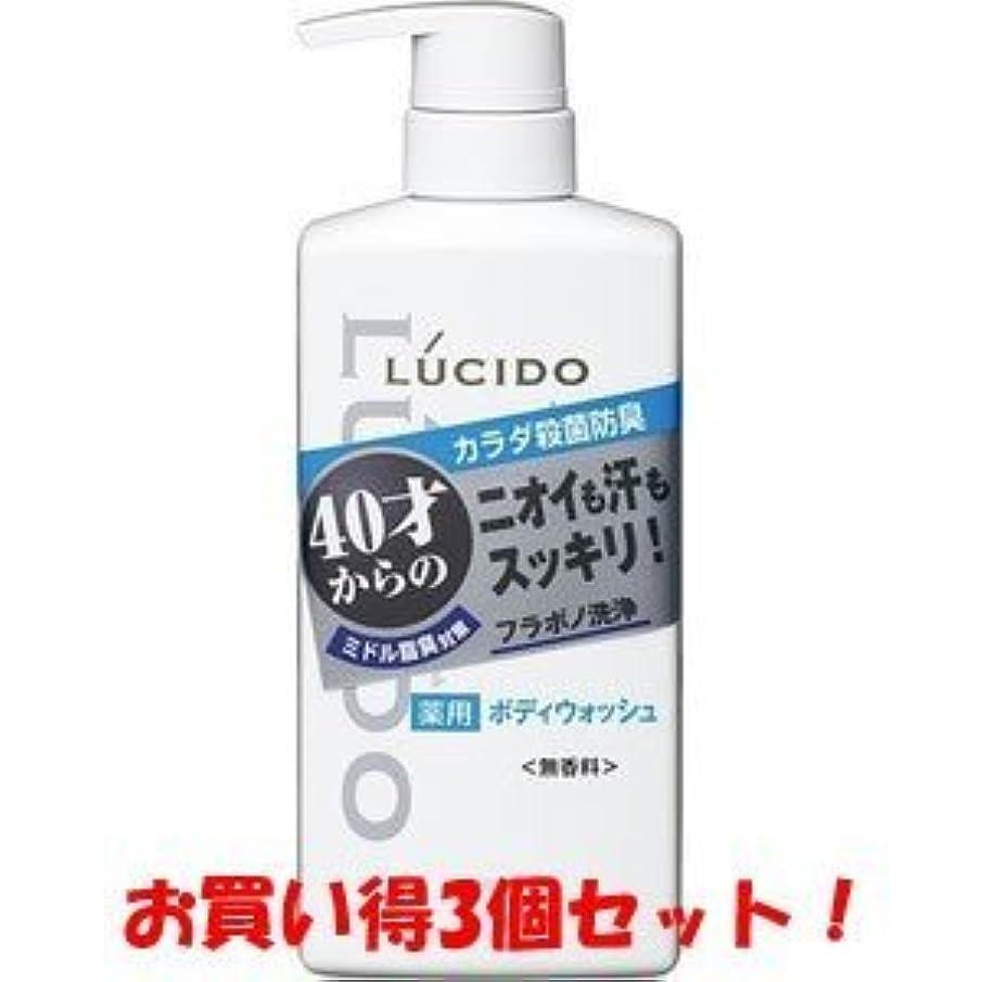 しおれた線形省略【LUCIDO】ルシード 薬用デオドラントボディウォッシュ 450ml(医薬部外品)(お買い得3個セット)