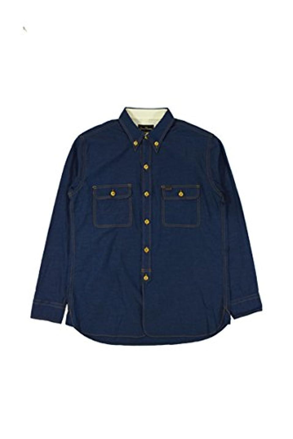 故障ランク素晴らしい良い多くのB.D.ワークシャンブレーシャツ  OWEN _36-NAVY