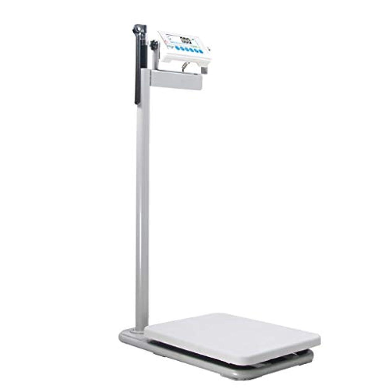 マウント消費分割電子スケール、高精度の高さおよび重量のスケール - 90度の回転を用いるHD表示画面 - 440ポンド容量/ 200kg、81-210cm、家用、ジム
