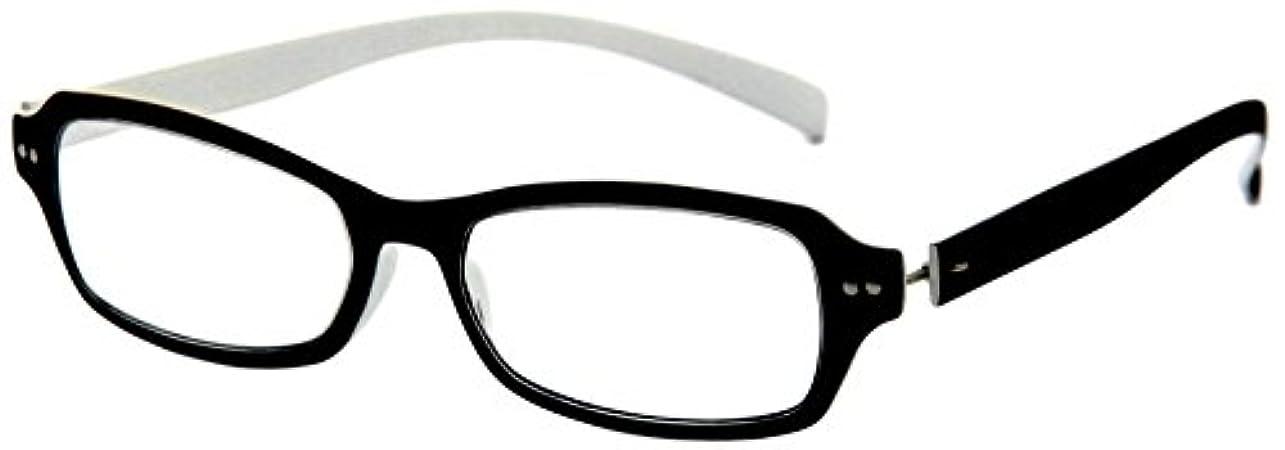 デューク 老眼鏡 +3.0 度数 ネオクラシック 超軽量フレーム ソフトケース付き ラバーブラック ホワイト GLR01-4+3.00