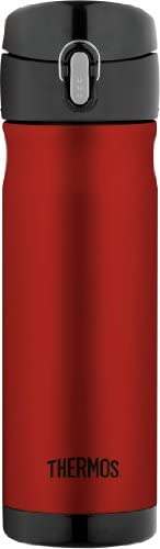 Thermos Stainless Steel Vacuum Insulated Commuter Bottle, 470ml, Red, JMW500R4AUS
