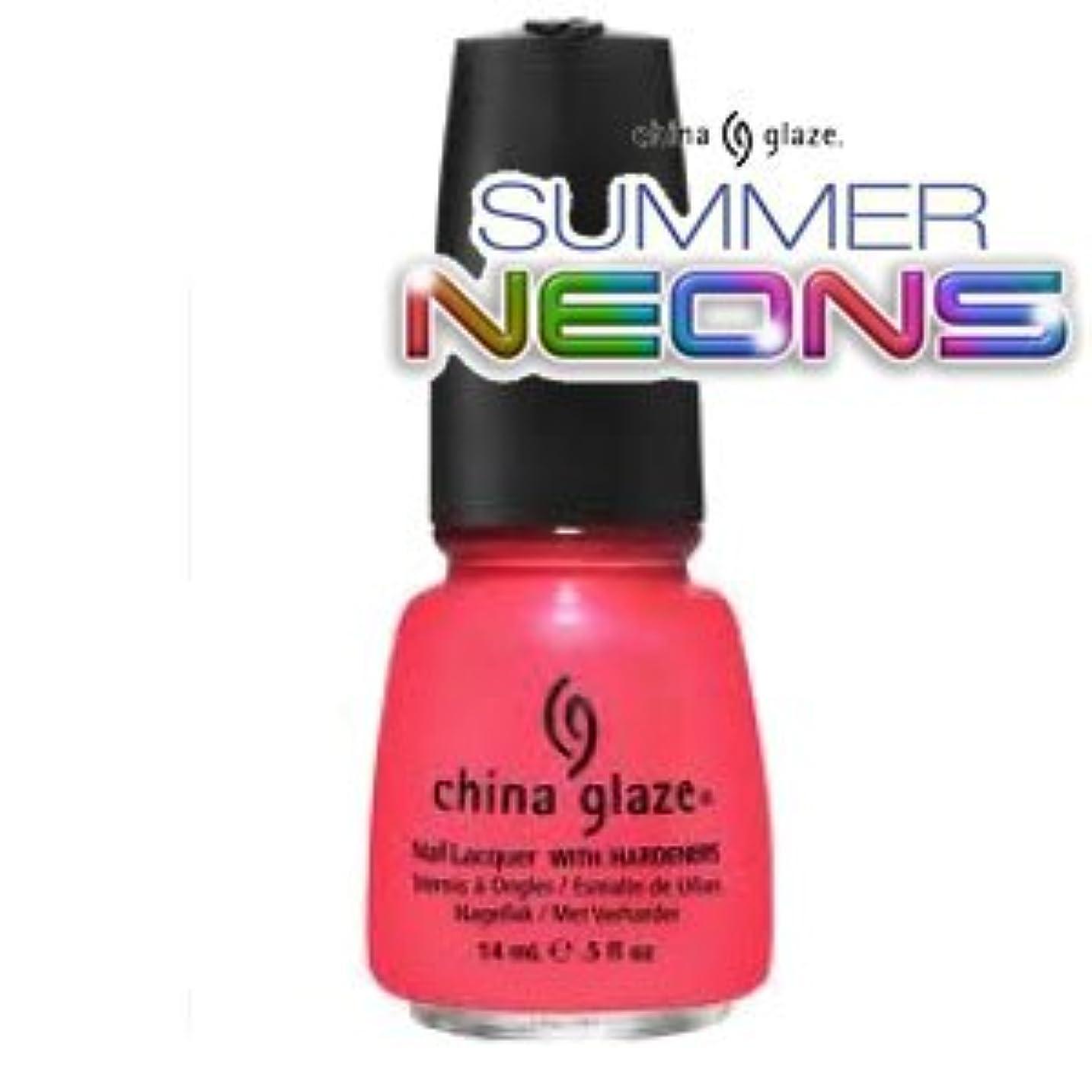 ドレイン疫病曖昧な(チャイナグレイズ)China Glaze Flirty Tankiniーサマーネオン コレクション [海外直送品][並行輸入品]