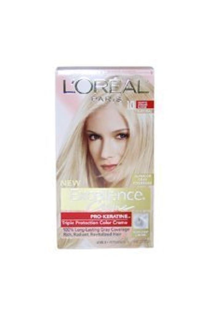 ハムぼろ隔離Excellence Creme Pro - Keratine 10 Light Ultimate Blonde - Natural by L'Oreal - 1 Application Hair Color by L'Oreal...