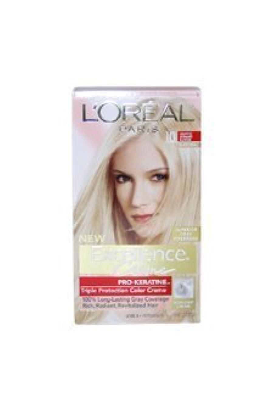 落花生代理店軍Excellence Creme Pro - Keratine 10 Light Ultimate Blonde - Natural by L'Oreal - 1 Application Hair Color by L'Oreal...