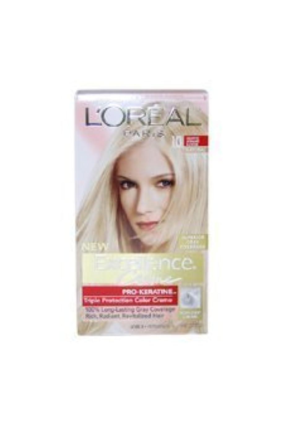 ポケットヨーグルト怪物Excellence Creme Pro - Keratine 10 Light Ultimate Blonde - Natural by L'Oreal - 1 Application Hair Color by L'Oreal...