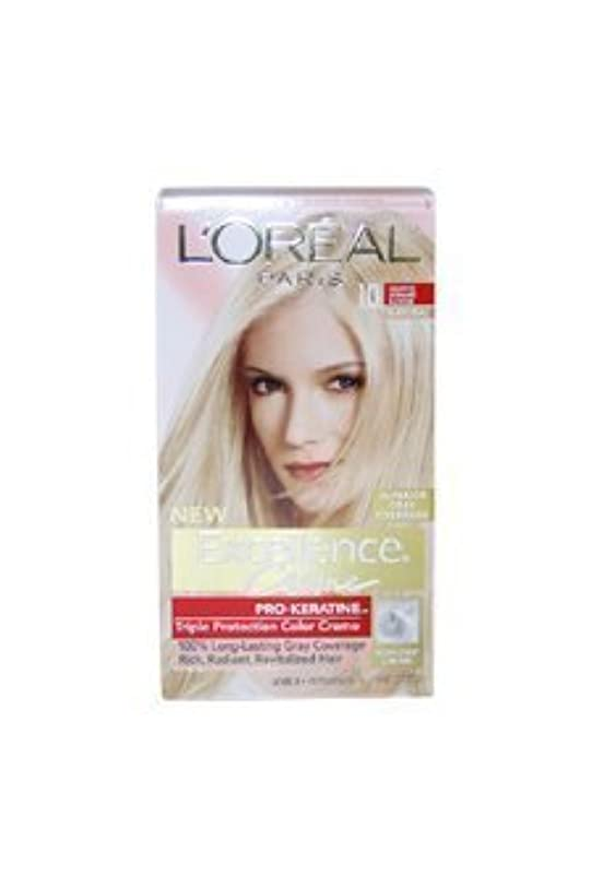 マイクロ意志に反するに負けるExcellence Creme Pro - Keratine 10 Light Ultimate Blonde - Natural by L'Oreal - 1 Application Hair Color by L'Oreal...