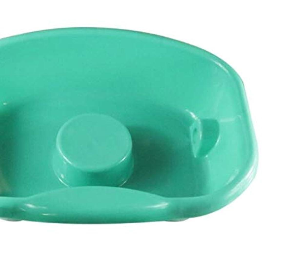 守る電話の前で医療患者ケアシャンプー洗面器-ポータブル医療イージーベッドシャンプープラスチック洗面器ヘアウォッシングトレイ