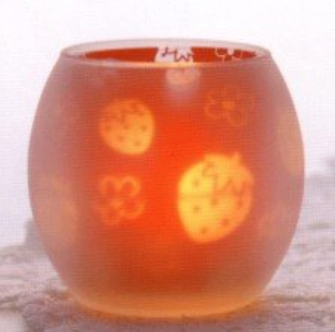 フロンティア二層促すいちご シルエットグラス