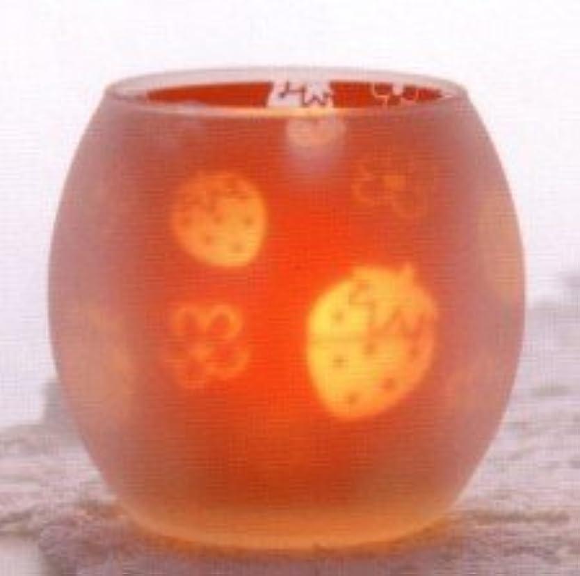 蒸留リール倫理的いちご シルエットグラス