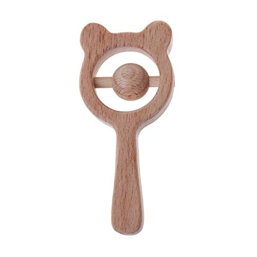 いくつかの取り扱い愛国的なランドウッドティーザーベイビーベアーティーザーガラガラベビー授乳玩具かむ玩具歯が生えるガラガラおもちゃ
