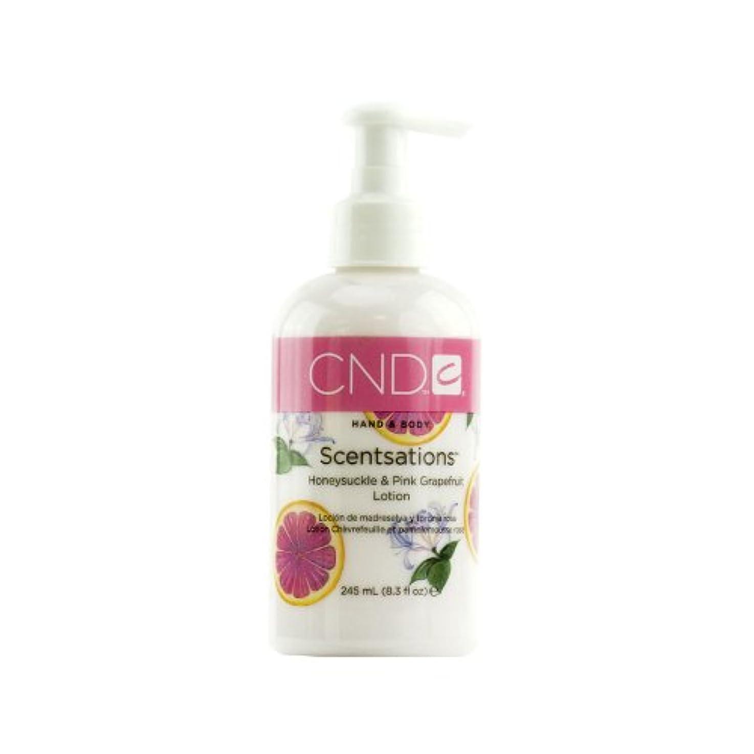 インフルエンザ富やりがいのあるCND センセーション ハンド&ボディローション ハニーサックル&ピンクグレープフルーツ 245ml みずみずしいフェミニンな香り